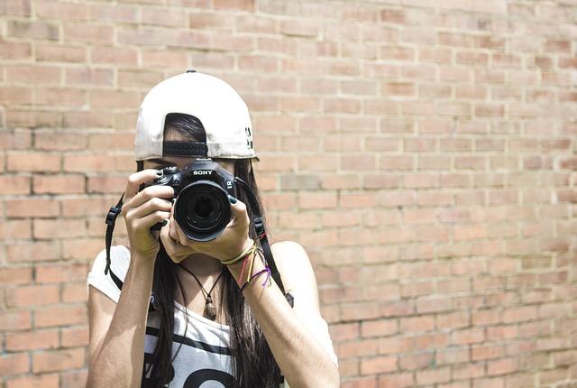 Female, Camera, Shoot