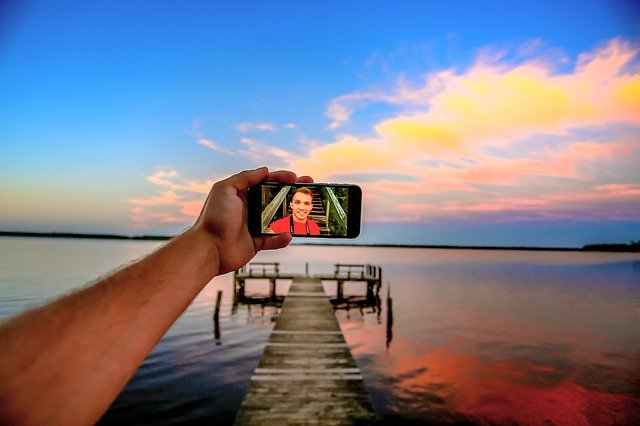 Landscape, Selfie, Arm